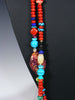 Native American Indian Santo Domingo Double Strand Necklace by Daniel Coriz - PuebloDirect.com - 3