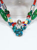 Native American Indian Santo Domingo Double Strand Necklace by Daniel Coriz - PuebloDirect.com - 2