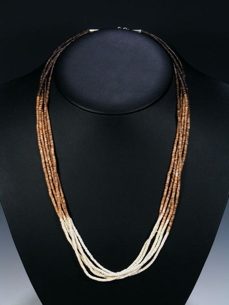 Native American Santo Domingo Heishi Necklace by Ramona Byrd - PuebloDirect.com - 1