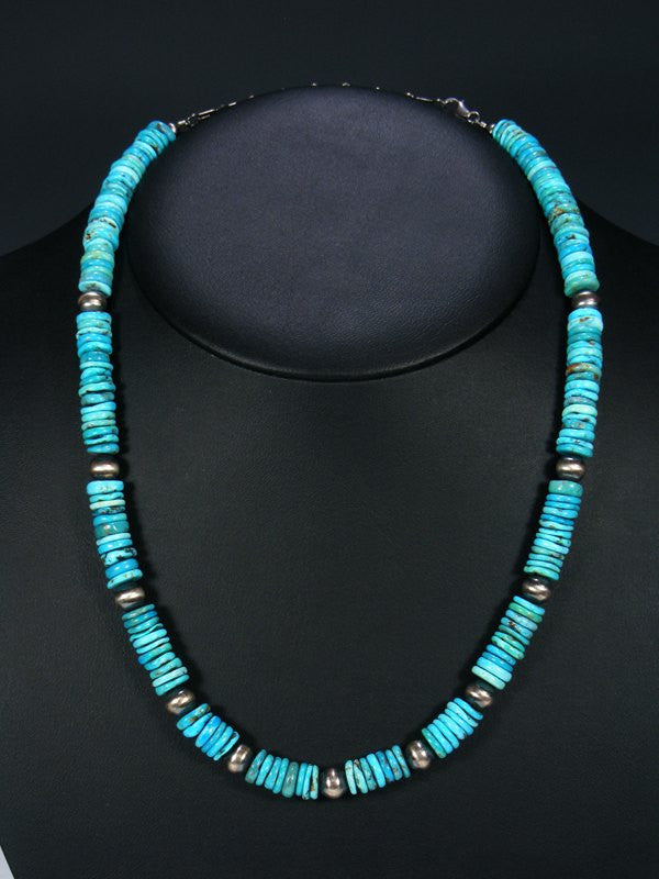 Native American Indian Turquoise Bead Necklace