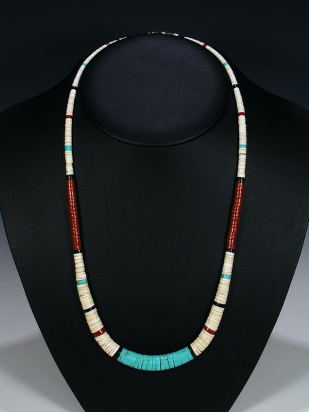 Native American Indian Santo Domingo Turquoise Necklace