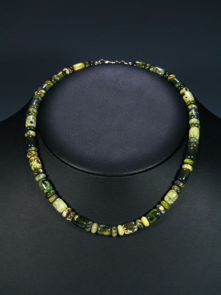 Native American Indian Jewelry Serpentine Choker Necklace