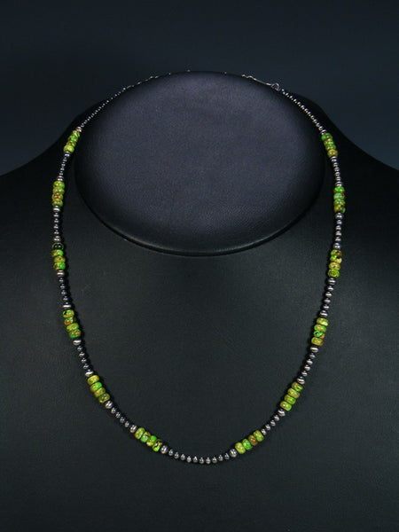 Native American Gaspeite Single Strand Necklace