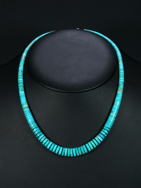 Native American Santo Domingo Kingman Turquoise Necklace