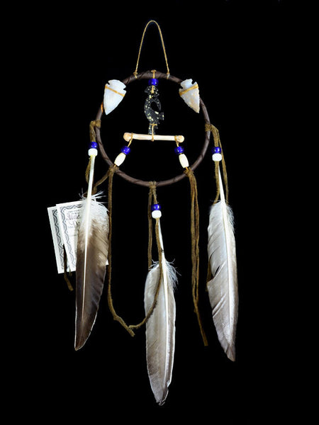 Native American Kokopelli Bone Dancer Dream Catcher