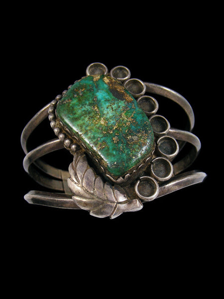 Old Pawn Indian Sterling Silver Turquoise Bracelet