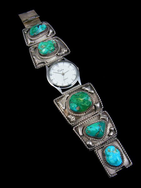 Old Pawn Indian Jewelry Turquoise Link Watch