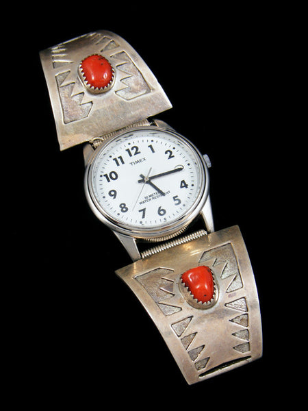 Old Pawn Indian Jewelry Coral Watch