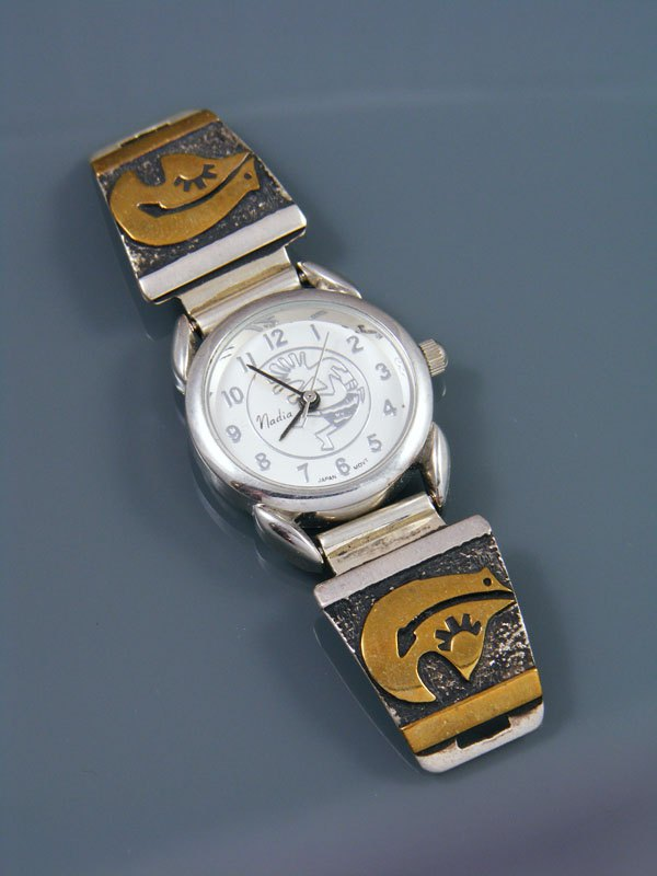 Estate Native American 12kt Overlay Jewelry Ladies' Watch