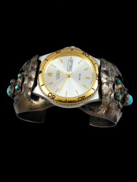 Old Pawn Indian Jewelry Turquoise Cuff Watch