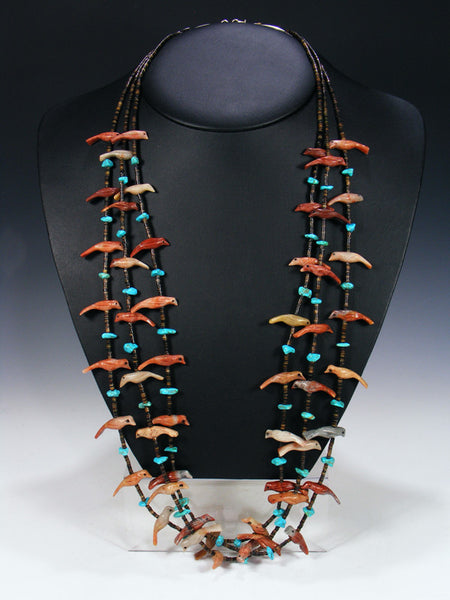 Old Pawn Native American Jewelry Fetish Necklace