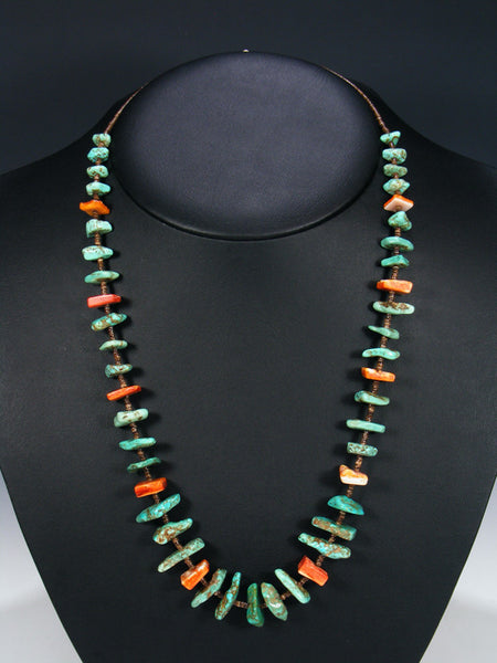 Estate Santo Domingo Turquoise and Shell Necklace