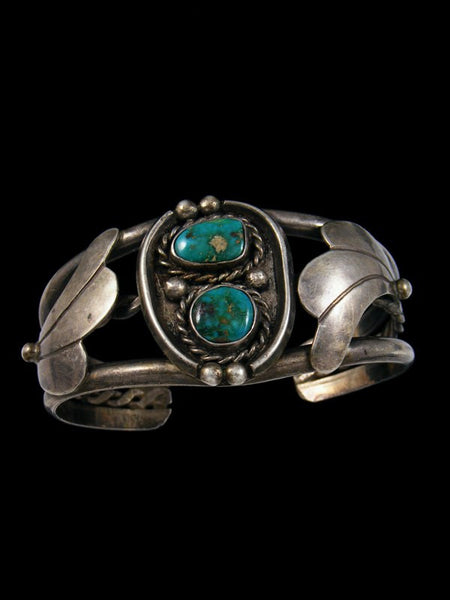 Old Pawn Navajo Sterling Silver Turquoise Bracelet