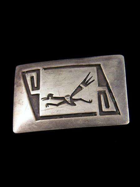 Old Pawn Native American Jewelry Sterling Silver Belt Buckle