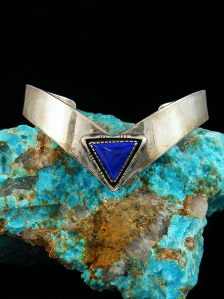 Estate Native American Sterling Silver Lapis Bracelet