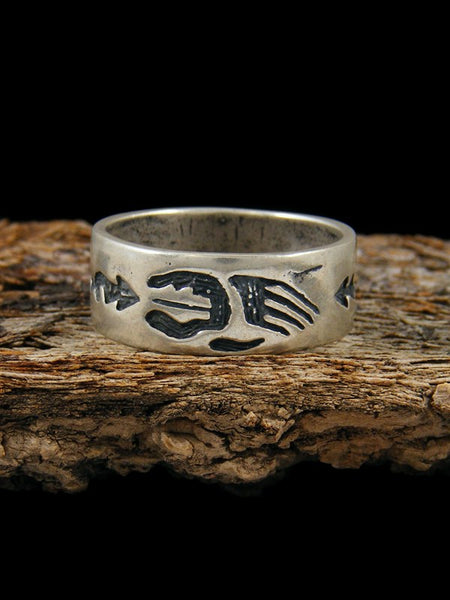Estate Native American Sterling Silver Ring, Size 9