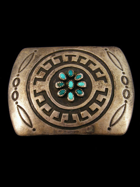 Old Pawn Indian Jewelry Sterling Silver Belt Buckle