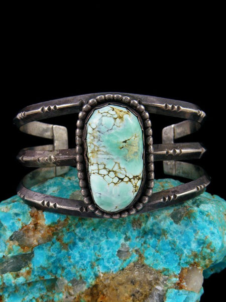 Old Pawn Native American Sterling Silver Turquoise Bracelet