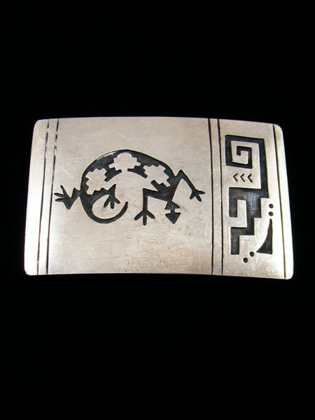 Sterling Silver Native American Vintage Belt Buckle