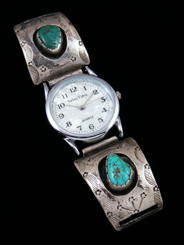 Old Pawn Native American Jewelry Turquoise Watch