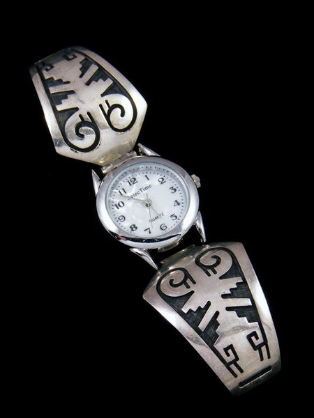 Estate Native American Hopi Overlay Jewelry Ladies' Watch
