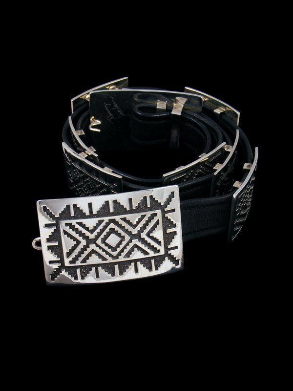Estate Navajo Jewelry Sterling Silver Concho Belt