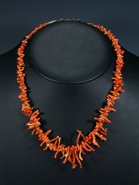 Old Native Jewelry Natural Branch Coral Necklace