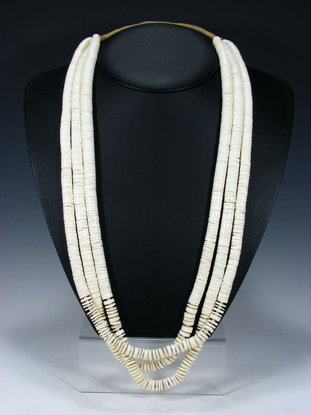 Vintage Estate Santo Domingo White Shell Heishi Necklace