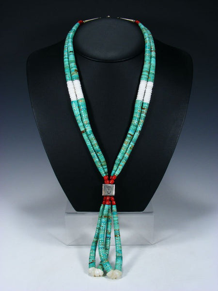 Vintage Santo Domingo Turquoise Necklace with Jocla