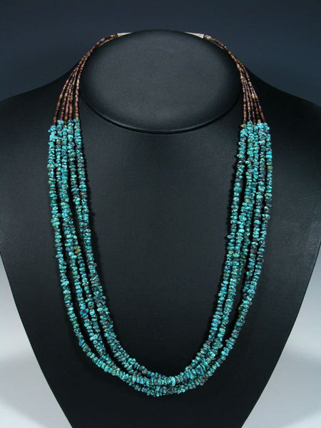 Estate Native American Turquoise Necklace