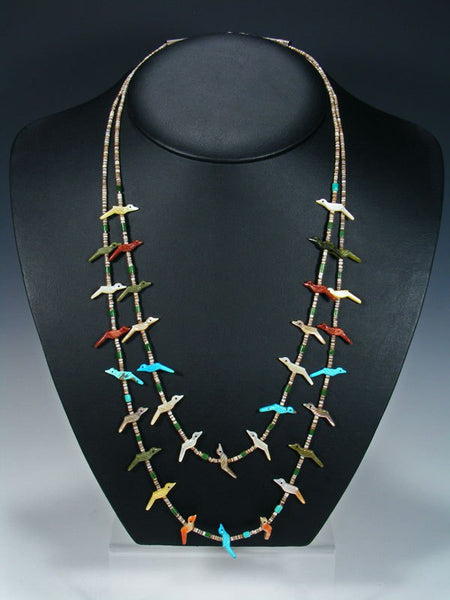 Estate Native American Jewelry Bird Fetish Necklace