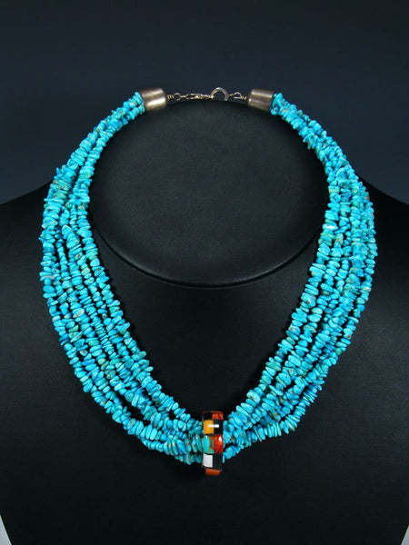 Estate Native American Turquoise Multi-Strand Necklace