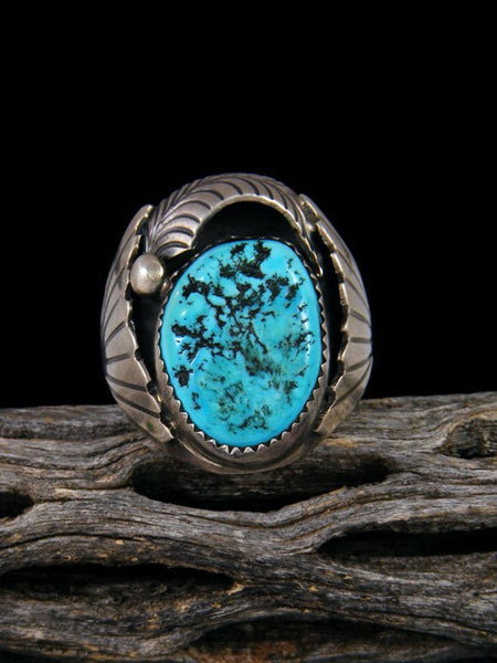 Vintage Navajo Sleeping Beauty Turquoise Ring, Size 10