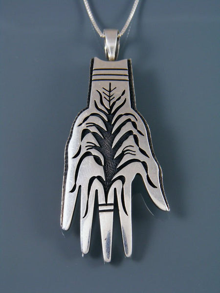 Estate Hopi Jewelry Sterling Silver Pendant