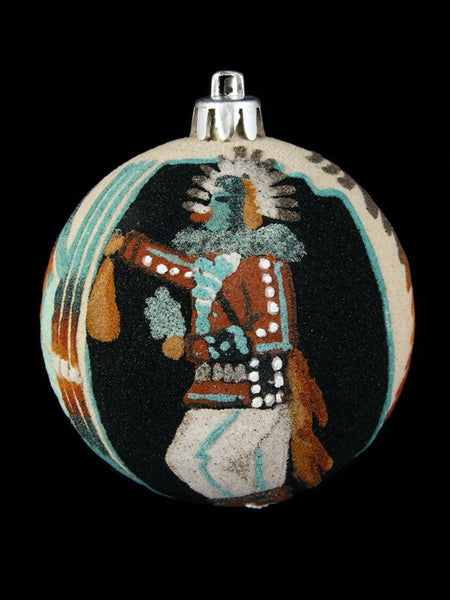 Navajo Sand Painted Ornament, Kachina Design