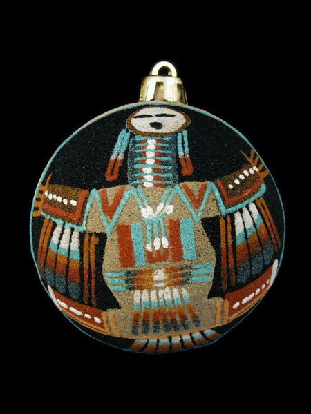 Navajo Sand Painted Ornament, Yeibichai Design