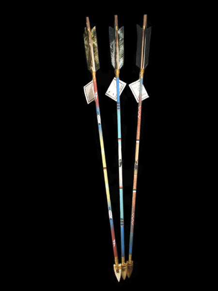 "36"" Painted Arrow by Navajo Artist - PuebloDirect.com"