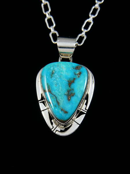 Native American Indian Jewelry Turquoise Mountain Pendant