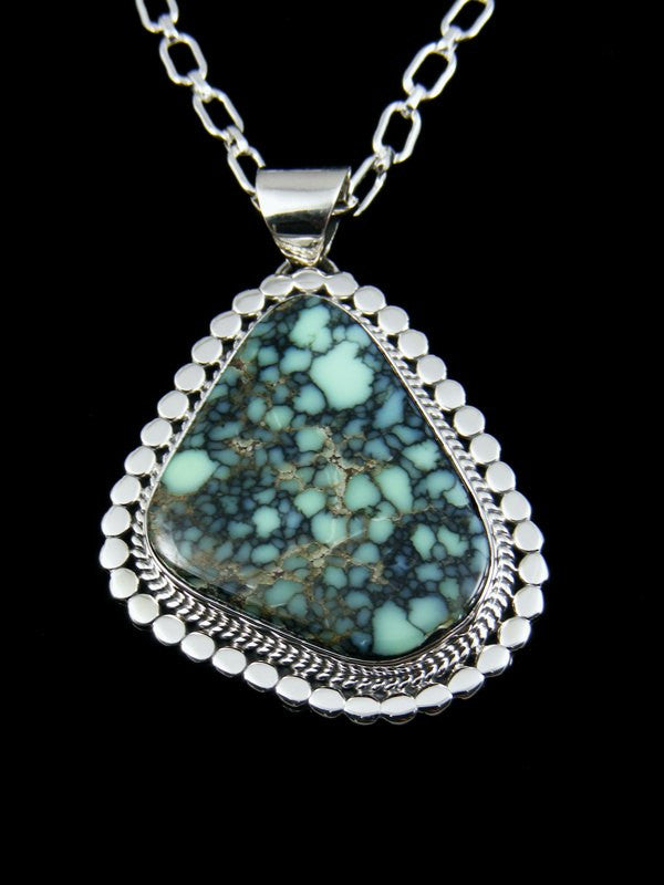 Native American Indian Sterling Silver Variscite Pendant