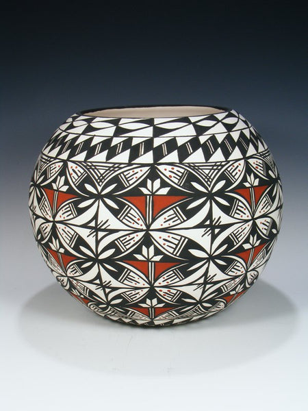Large Acoma Pueblo Painted Pottery Bowl