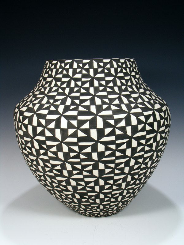 Large Acoma Pueblo Hand Coiled Pottery