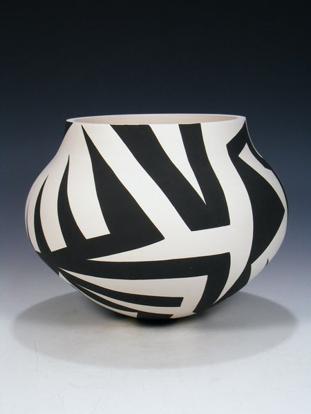 Acoma Pueblo Coiled Pottery Bowl