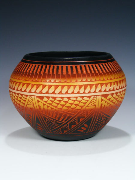 Acoma Pueblo Etched Pottery Bowl