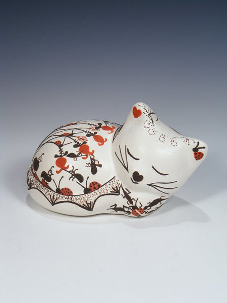 Acoma Pueblo Pottery Sleeping Cat