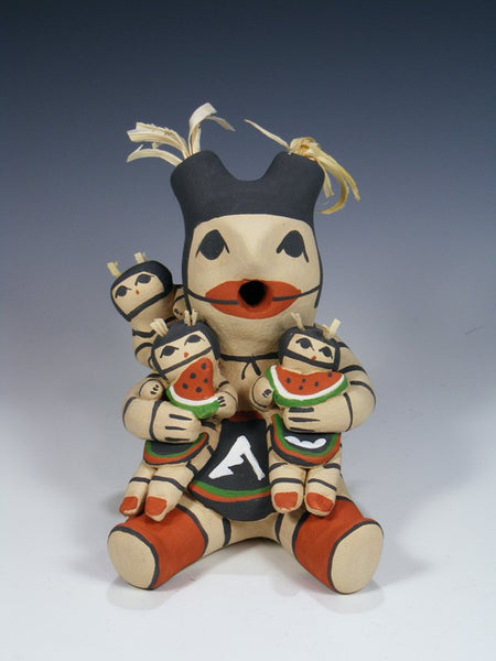 Clay Clown Koshare 3 Baby Jemez Pueblo Storyteller