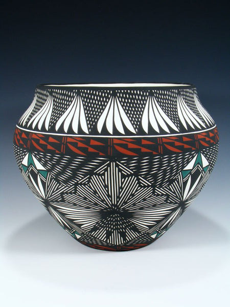 Acoma Pueblo Eye Dazzler Design Bowl