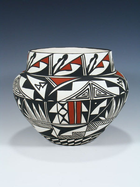Hand Painted Acoma Pueblo Pottery Bowl