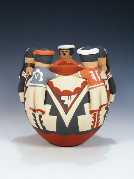 Jemez Pueblo Pottery Storyteller Friendship Bowl
