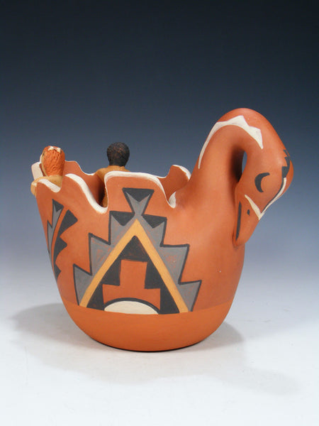 Jemez Pueblo Pottery Bird Storyteller Bowl