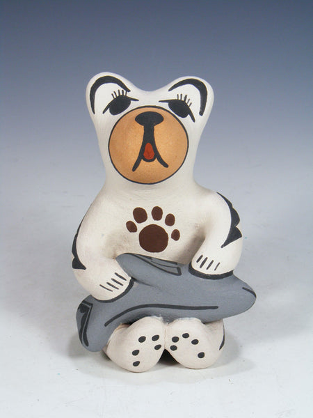 Jemez Pueblo Pottery Storyteller Little White Bear
